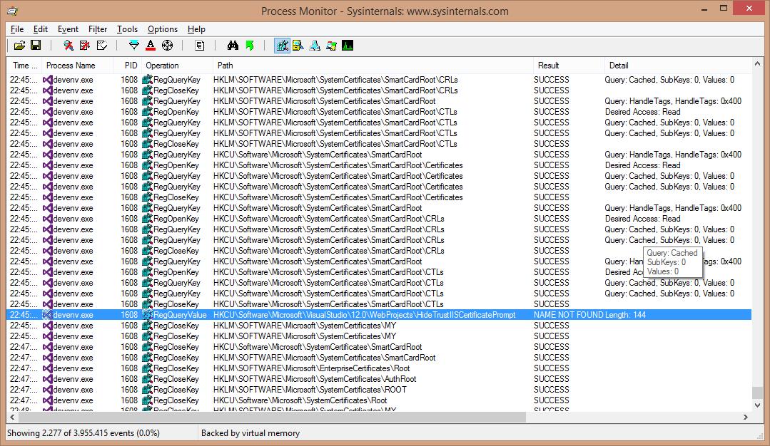 Visual Studio 2013 Update 2 Dialog To Trust Iis Express Ssl